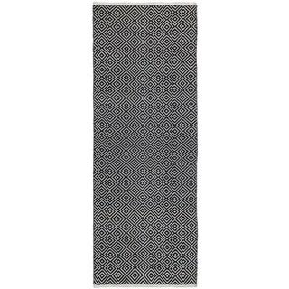 Black Jute Diamonds (2.5'x12') Flat Weave Runner