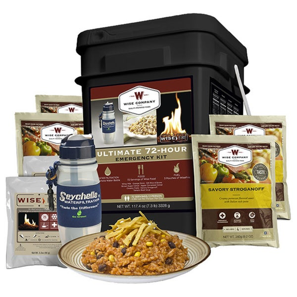 Wise Foods Ultimate 72 Hour Emergency Kit Filter/ Fire