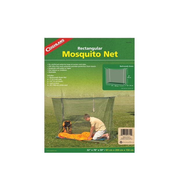 Coghlans Mosquito Net Backwoods/ Single/ Green