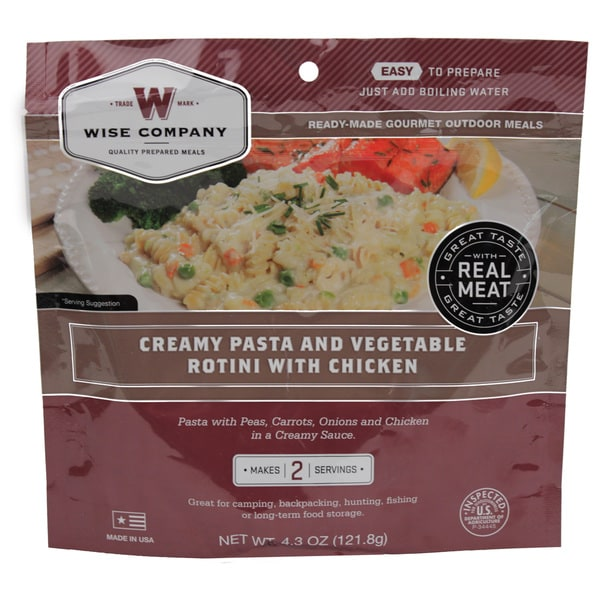 Wise Foods Entree in Pouch Creamy Pasta and Vegetable Rotini with Chicken/ (2 Servings)