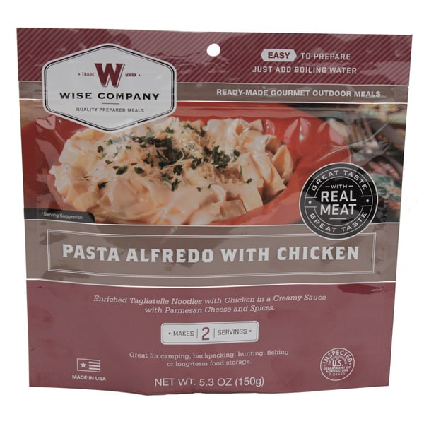 Wise Foods Entree in Pouch Pasta Alfredo with Chicken (2 Servings)