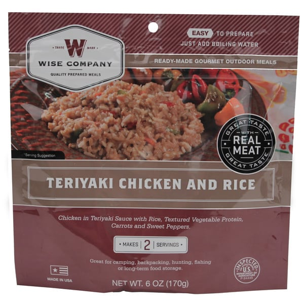Wise Foods Entree in Pouch Teriyaki Chicken with Rice (2 Servings)