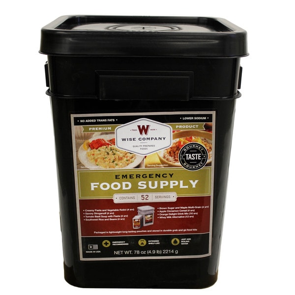 Wise Foods Prepper Pack Emergency Meal Kit Bucket 15470380