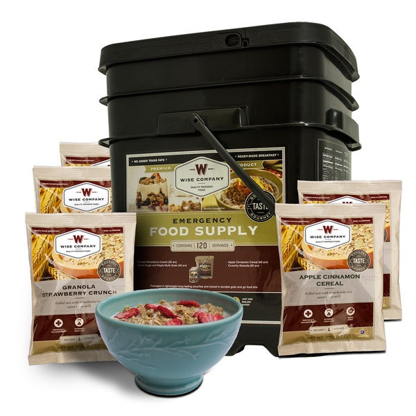 Wise Foods Breakfast Only GrabandGo Bucket (120 Serving)