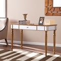 Upton Home Beasley Champagne Gold Mirrored Desk