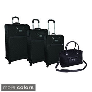 Adrienne Vittadini Quilted Nylon 4-piece Spinner Luggage set