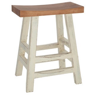 24-inch Solid Wood Counter Stool