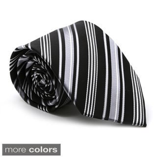 Ferrecci Mens Premium Multi-Striped Neckties & Hanky