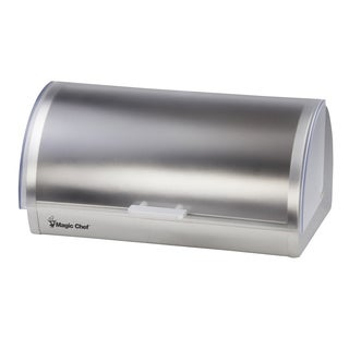 Magic Chef Stainless Steel Frosted Bread Box