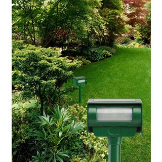 Bell and Howell Solar Animal Repeller with 30-inch Strobe Light