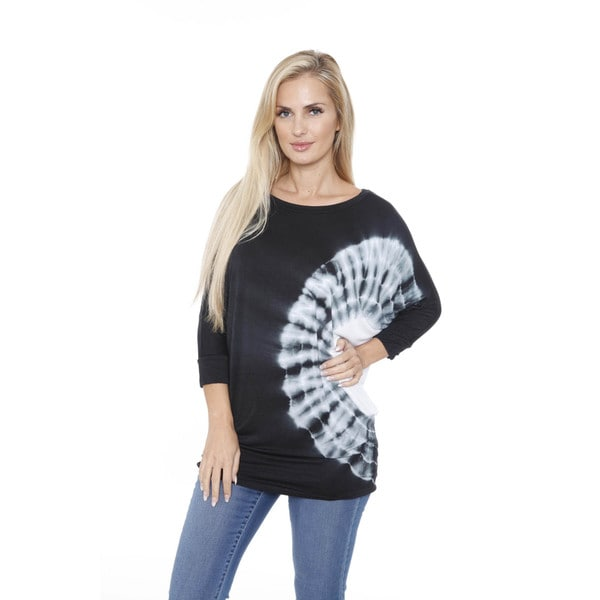 White Mark Women's Tie Dye Dolman Top/Tunic 15471091
