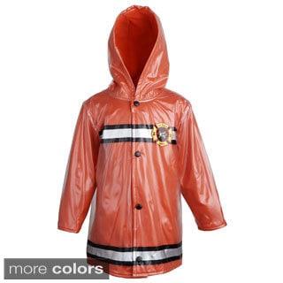 Wippette Baby Boys' Waterproof Hooded Fleece Lined Firefighter Jacket