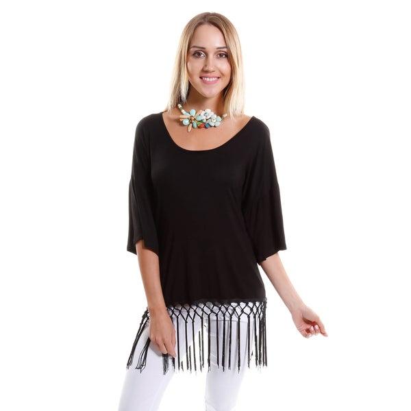 Hadari Women's Tassle Hem Shirt