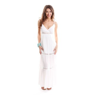 Hadari Women's V-neck Maxi Dress