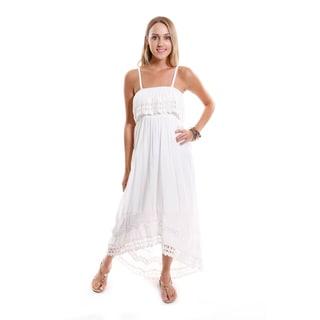 Hadari Women's Waistband High-low Dress