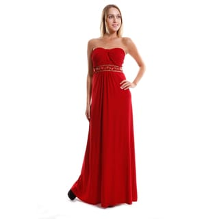 Hadari Women's Elegant sweetheart Empire Waist Gown