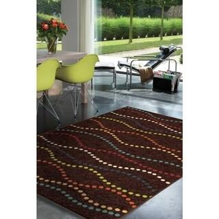 """Indoor/ Outdoor Veranda Starlight Brown Area Rug (7'8"""" x 10'10"""")"""