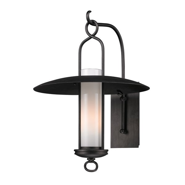 Troy Lighting Carmel 1-light Large Wall Sconce, Graphite