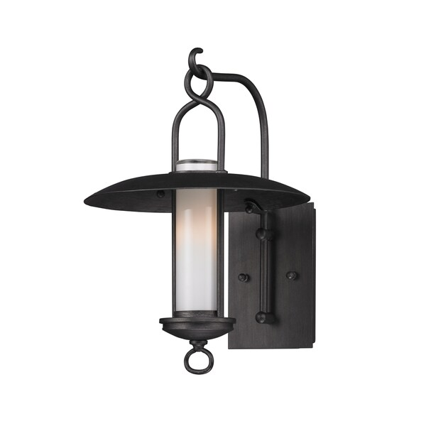 Troy Lighting Carmel 1-light Small Wall Sconce, Graphite