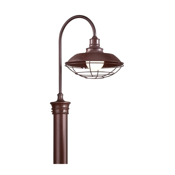 Troy Lighting Circa 1910 1-light Post Lantern, Old Rust