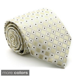 Ferrecci Mens Premium Checkered Diamond Neckties