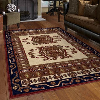 "Oxford Yuma Merlot Area Rug (5'3"" x 7'6"")"