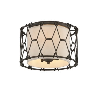 Troy Lighting Buxton 3-light Flush Mount