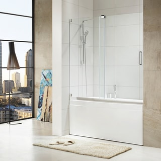 Paragon Bath - OASIS - Premium (10 mm) Thick Clear Tempered Glass, 60 in. W x 58 in. H, Frameless Shower Door in Chrome