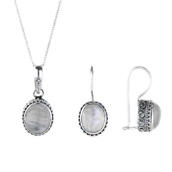Moonstone Necklace And Earring Set