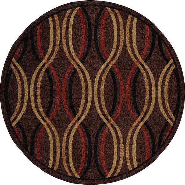 "Four Seasons Regatta Caf Au Lait Area Rug (7'8"" Round)"