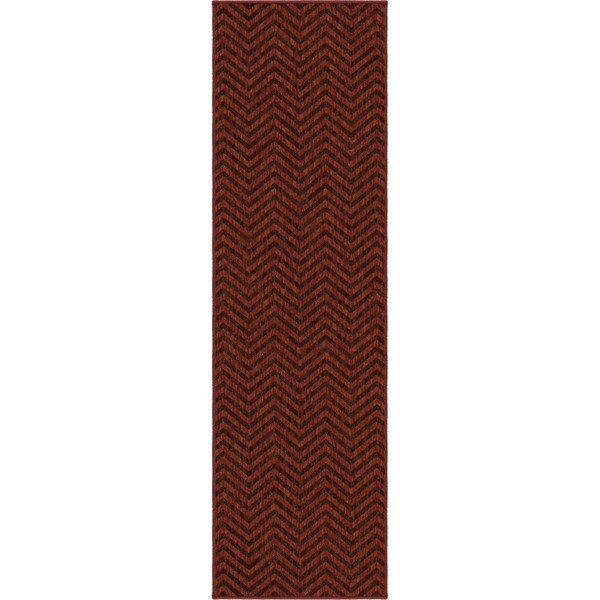 "Simplicity Harrington Cinnabar Brown Runner (2'3"" x 8')"