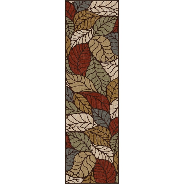 "Harmony Palm Overlay Multi Runner (2'3"" x 8')"