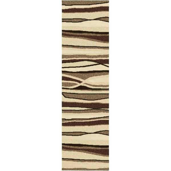 """Four Seasons Alfresco Stripe Driftwood Runner (2'3"""" x 8')"""