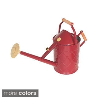 English Garden Haws Heritage 2.3 Gallon Galvanized Metal Watering Can with Wood Handles