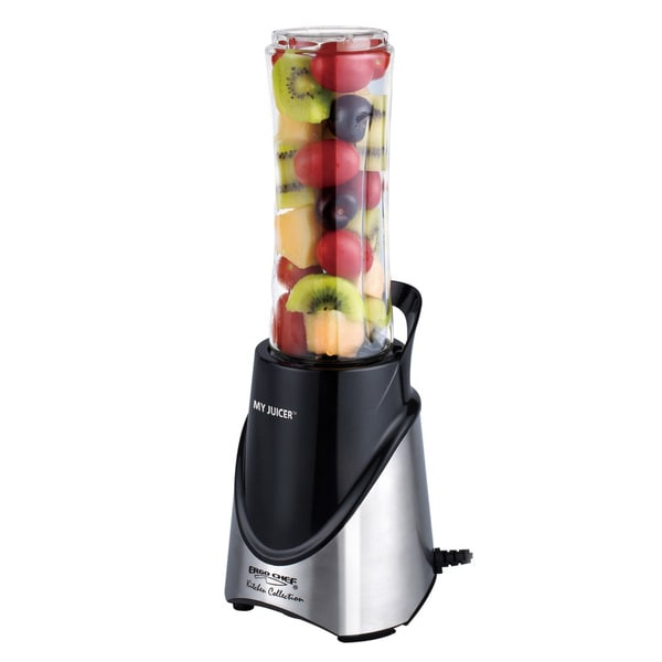My Juicer Stainless Steel 300-Watt Personal Juicer Blender with Travel Sports Bottle