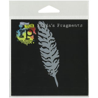 Crafter's Workshop Fragments Templates 4inX4inSimple Feather