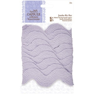 Papermania French Lavender Jumbo Ric Rack 1inX2m
