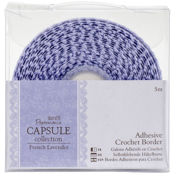 Papermania French Lavender Adhesive Crochet Border 5m