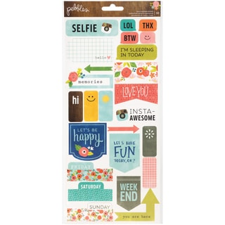 Happy Day Cardstock Stickers 6inX12in 2/SheetsPhrases & Labels