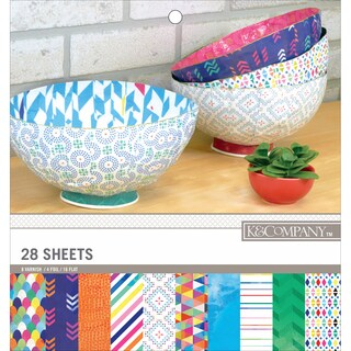 K&Company Trends DoubleSided 12inX12in Specialty Paper Pad 28Patterns, 14 Designs/2 Each