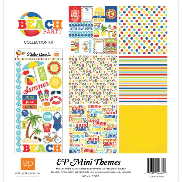 Echo Park Collection Kit 12inX12inBeach Party