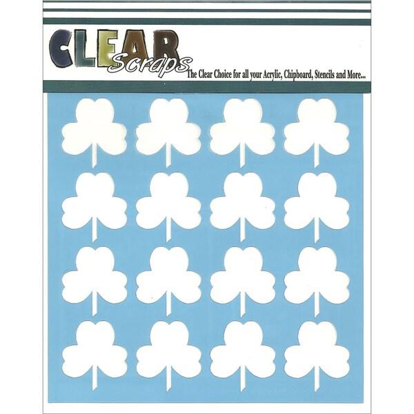 Clear Scraps Stencils 6inX6inShamrock