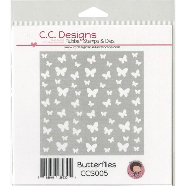 C.C. Designs Stencils 6inX6inButterflies