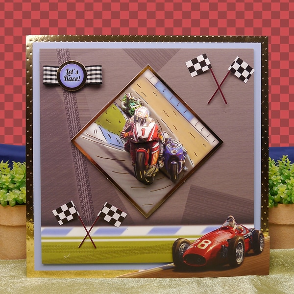 Sports & Leisure Adorable Scorable Luxury Decoupage Set A4Start Your Engines & Ready, Steady, Go!