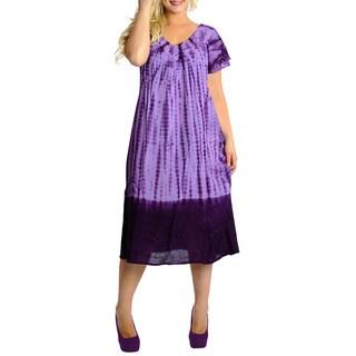 La Leela Women's Tie-dye Cover-up