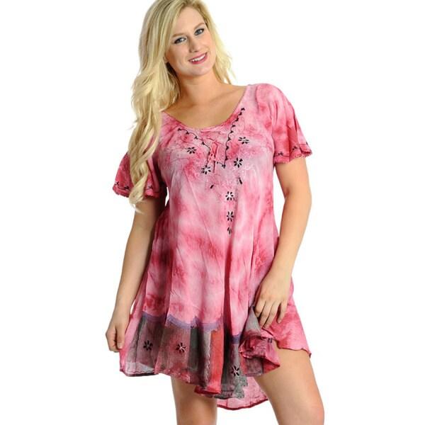 La Leela Tie-dye Pink Beach Cover-up