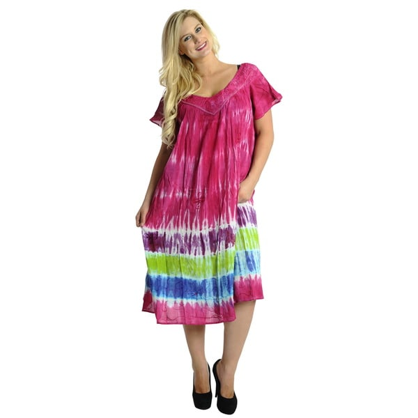 La Leela Tie-dye Pink Cover-up
