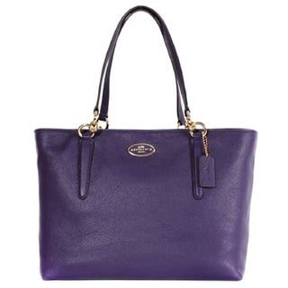 Coach 33961 Chicago Ellis Pebbled Leather Violet Tote