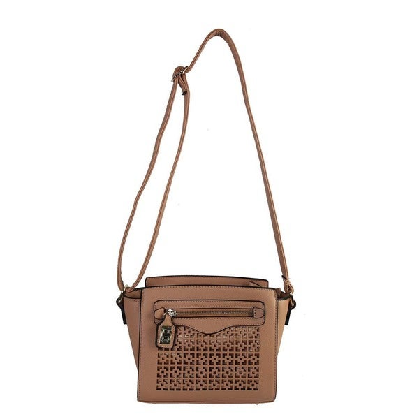 Rimen & Co. Structure Laser Cut Crossbody Purse
