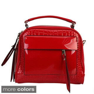 Diophy Patent Leather Dr Style High Gloss Handbag
